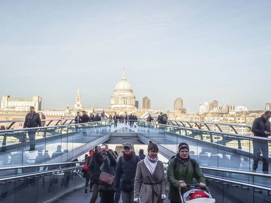 Views from the Millennium Bridge