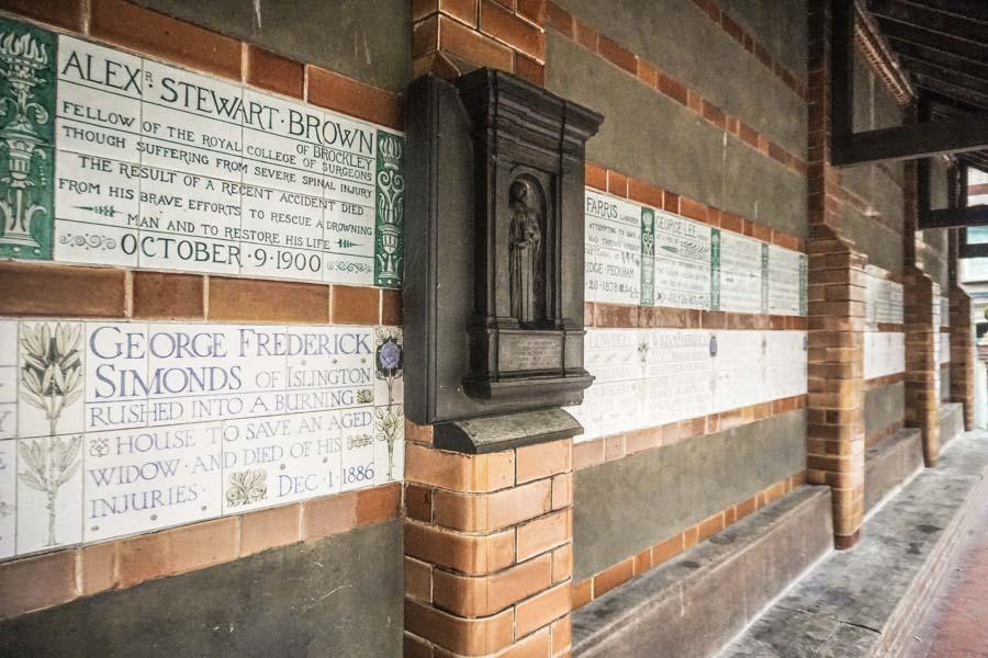 Memorial in Postman's Park London