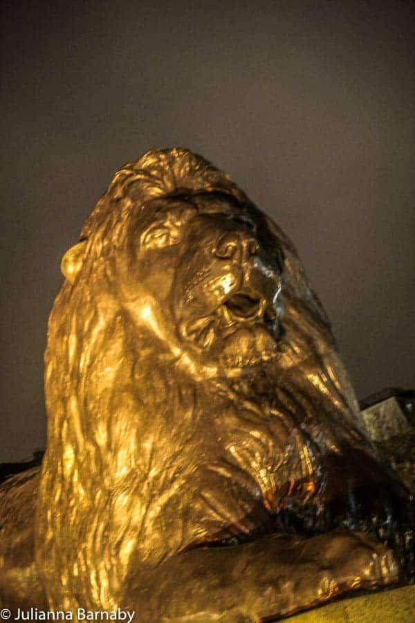 Lions on Trafalgar Square